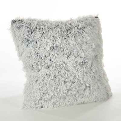 Loraine Solid Faux Fur Throw Pillow Color: White