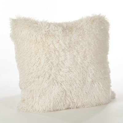 Juneau Faux Fur Throw Pillow Color: Ivory