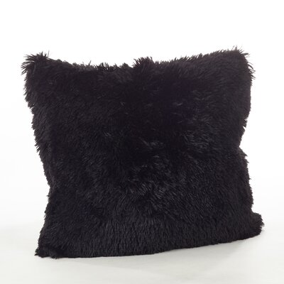 Loraine Faux Fur Throw Pillow Color: Black