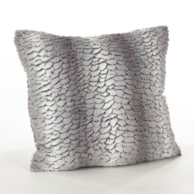 Loraine Glam Faux Fur Throw Pillow Color: Grey