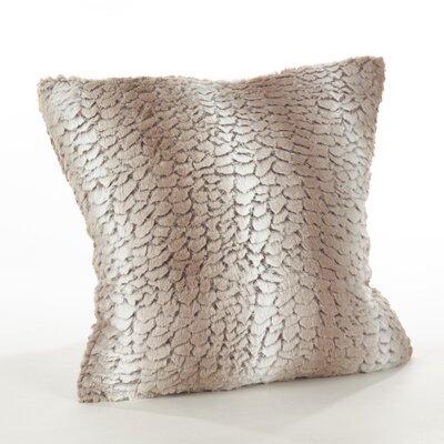 Loraine Glam Faux Fur Throw Pillow Color: Natural