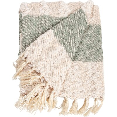 Nubby Design Striped Throw Blanket Color: Green