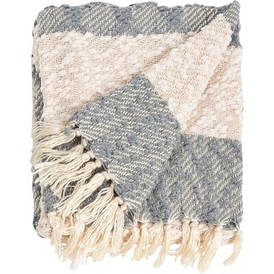 Nubby Design Striped Throw Blanket Color: Grey