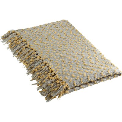 Sevan Petite Pompon Design Throw Blanket Color: Saffron