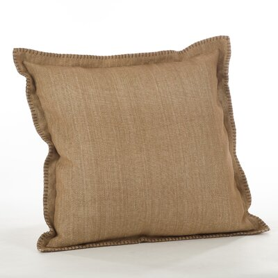 Celena Whip Stitched Flange Cotton Throw Pillow Color: Natural