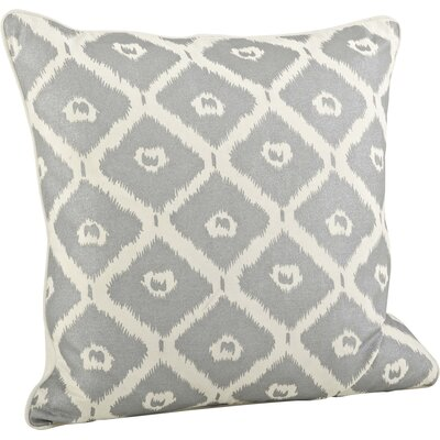 Olympia Printed Ikat Cotton Throw Pillow Color: Silver