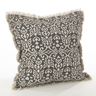 Naxos Geo Cotton Throw Pillow Color: Slate