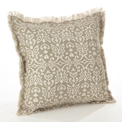 Naxos Geo Cotton Throw Pillow Color: Natural