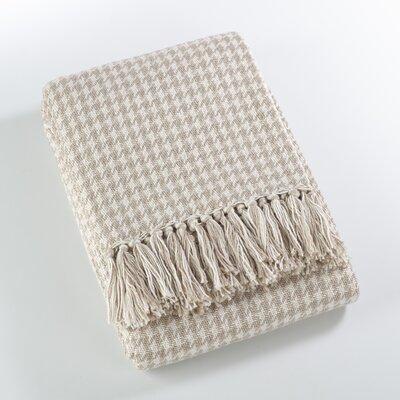 Mantua Houndstooth Soft Cotton Throw