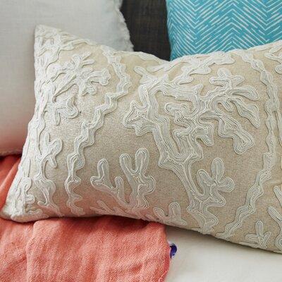 Tara Dori Embroidered Cotton Throw Pillow