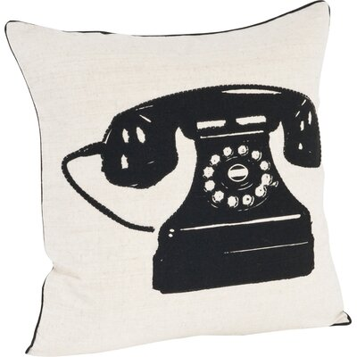 Hello Telephone Design Throw Pillow