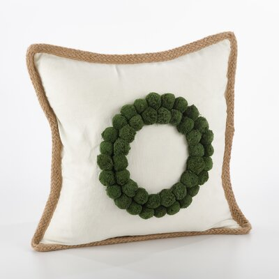 Ricamato Wreath Cotton Throw Pillow