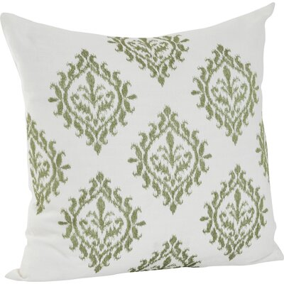 Embroidered Throw Pillow Color: Lime