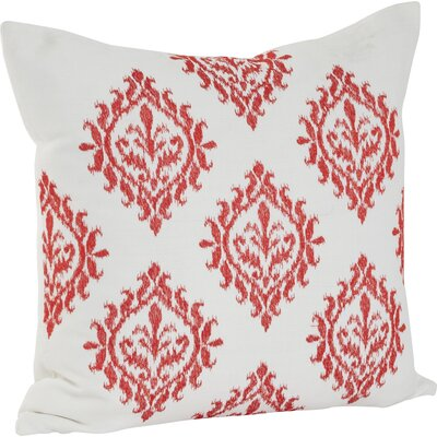 Embroidered Throw Pillow Color: Tangerine