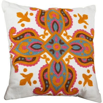 Crewel Throw Pillow Color: Fuchsia