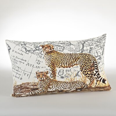 Cheetah Cotton Lumbar Pillow