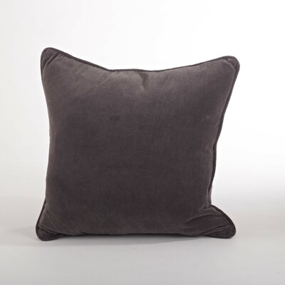 Velveteen Cotton Throw Pillow Color: Brown