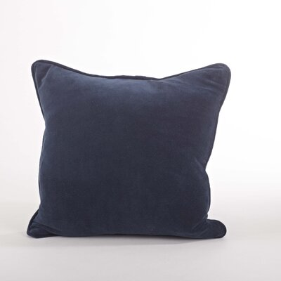 Velveteen Cotton Throw Pillow Color: Navy Blue