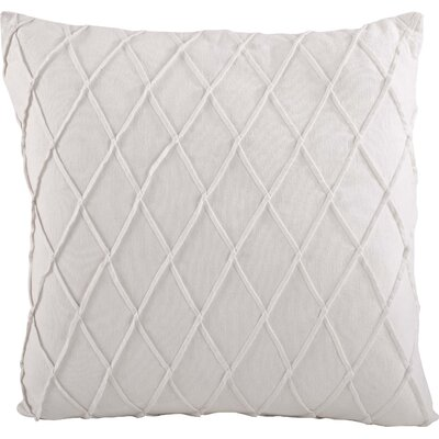 Fran�oise Pintuck Design Cotton Throw Pillow Color: White