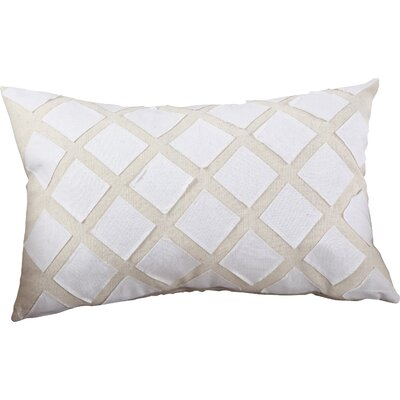 Appliqu� Design Cotton Throw Pillow