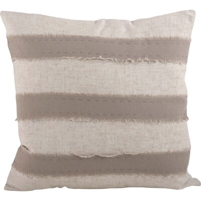 Cap Ferrat Banded Cotton Throw Pillow Color: Taupe