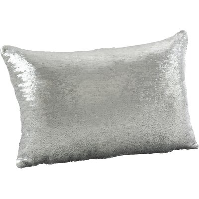 Alandra Mermaid Throw Pillow Color: White