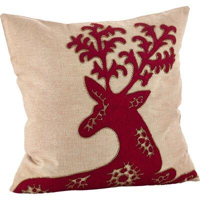Cervidae Deer Cotton Throw Pillow