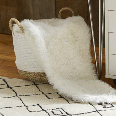 Loraine Faux Fur Throw Blanket Color: White