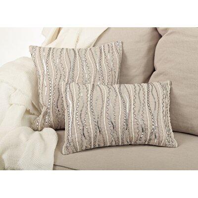 Stella Beaded Cotton Throw Pillow