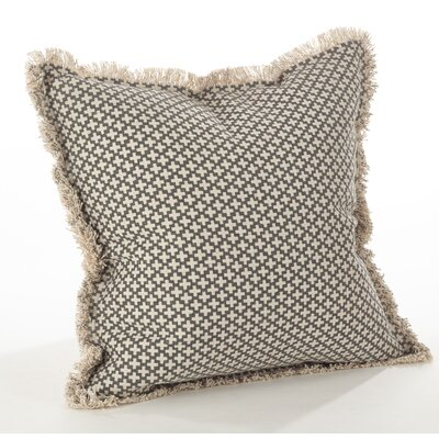Corinth Cotton Throw Pillow Color: Slate