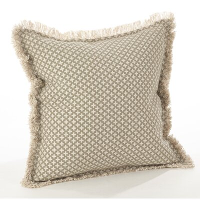 Corinth Cotton Throw Pillow Color: Natural