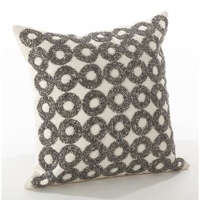 Seren Cotton Throw Pillow Color: Silver, Size: 12 H x 12 W x 4 D