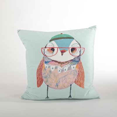 Les Trois Hiboux Owl Design Throw Pillow