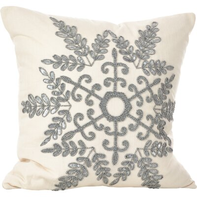 Cristabel Throw Pillow Color: Silver