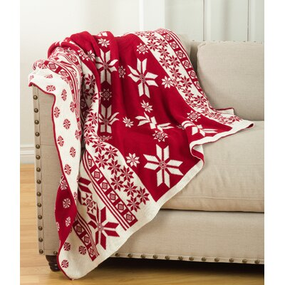 Crockett Christmas Knitted Throw