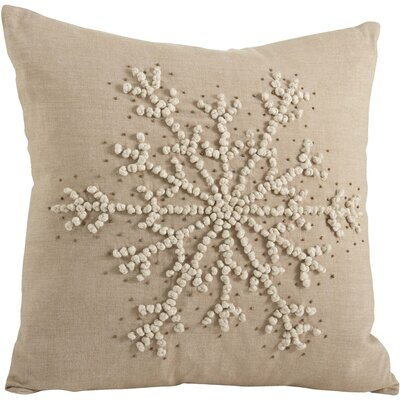 Knotted Snowflake Throw Pillow