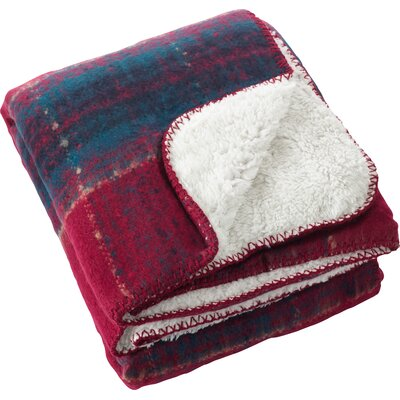 Burnsfield Faux Mohair Sherpa Throw