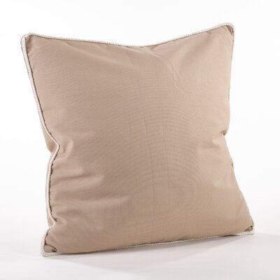 Madalena Cotton Throw Pillow Color: Taupe