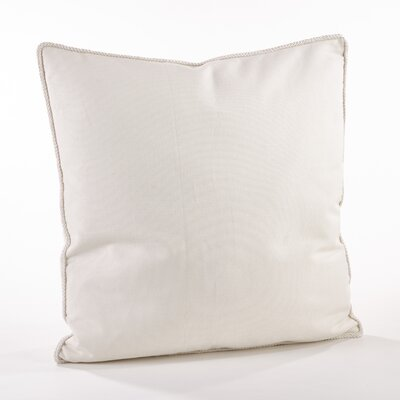 Madalena Cotton Throw Pillow Color: Ivory