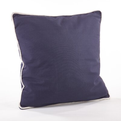 Madalena Cotton Throw Pillow Color: Navy Blue