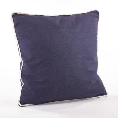 Madalena Cotton Throw Pillow Color: Navy Blue