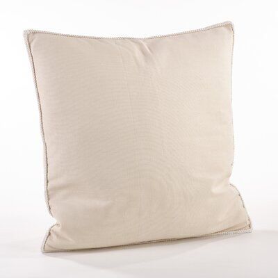 Madalena Cotton Throw Pillow Color: Ecru