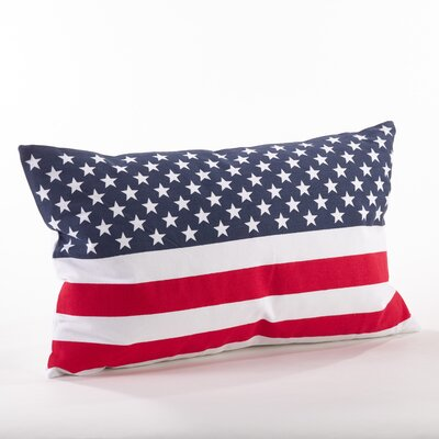 Star Spangled Cotton Throw Pillow