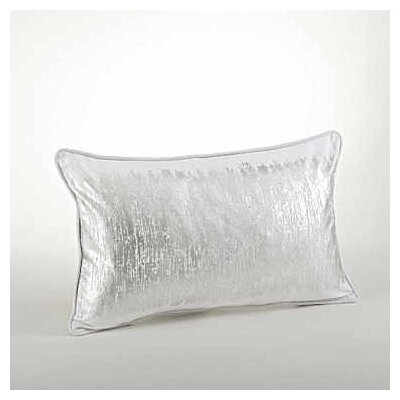 Agatha Metallic Banded Cotton Lumbar Pillow Color: Silver