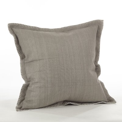Celena Whip Stitched Flange Cotton Throw Pillow Color: Gray