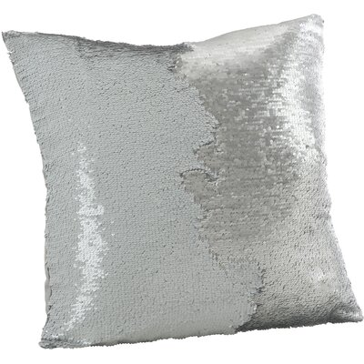 Alandra Sequin Mermaid Throw Pillow Color: Silver