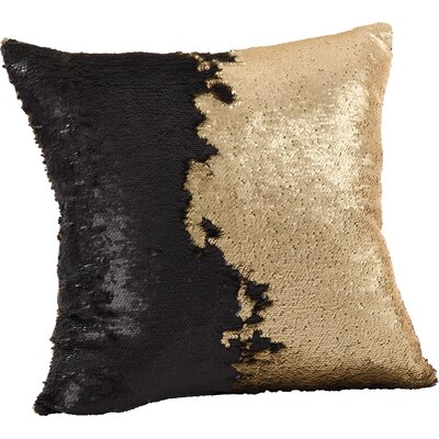 Alandra Sequin Mermaid Throw Pillow Color: Gold