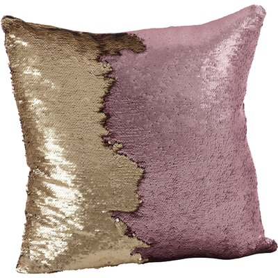 Alandra Sequin Mermaid Throw Pillow Color: Eggplant