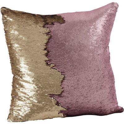 Alandra Sequin Mermaid Throw Pillow Color: Eggplant