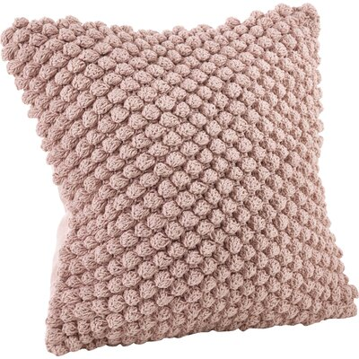 Camargue Cotton Throw Pillow Color: Pink